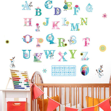 Alphabet cartoon wall sticker for learning reading children's room school Classroom background decorative home decor