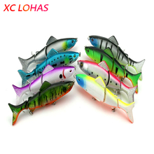 12.5cm 17.7g Isca Fishing Lures 3 Segments Minnow Swimbait Hard Plastic Lure with Steel Ball Artificial Fishing Bait JM009