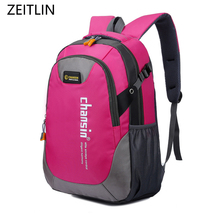 ZEITLIN fashion school bag Waterproof Nylon men Backpack Hike Camp Climb Bag women mochila Travel Bag Rucksack trekking bag H973