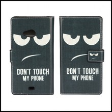 Cases Cover For Microsoft Nokia Lumia 535 N535 Leather Wallet Case Etui Coque Hoesjes Capinhas Capa Carcasa Fundas Angry Face(China)