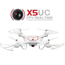 Syma X5UC RC Quadcopter 2.4G 4 Channel 6-Axis Gyro Hover Function,Flip Stunts,Headless Mode, HD Camera,Barometer Set Height RTF(China)