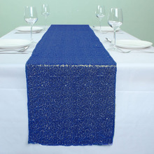 "12"" x 72"" Royal Blue Banquet Sequin Table Runner Wedding Event Party Christmas Decoration(China)"