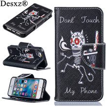 Desxz High Quality Fashion PU Leather Flip Wallet case for iPhone5G SE Luxury Painted Cartoon Phone Cases For iphone 5 se(China)