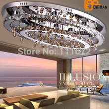 new oval LED crystal chandelier modern lighting crystal hall lights