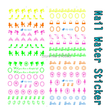 Nail 22Sheets/Lot Mixed Fluorescence Body Sexy Girl High-heeled Shoes Designs Water Nail Sticker Nail Transfer Decals YG034-044(China)