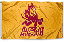 ASU Arizona State Sun Devils University Flag150X90CM NCAA 3X5FT Banner 100D Polyester grommets custom009, free shipping(China)