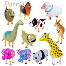 10pcs/lot Walking Animal Balloon Pet Cartoon Animal Helium Balloon for Children Kids Birthday Party Funny Decoration Dog Panda