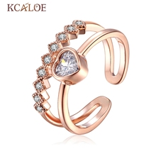 Rose Gold Silver color  Knuckle Rings Crystal Finger Joint Ring Fashion Nail Rings Jewelry  For Women Adjustable Toe Ring