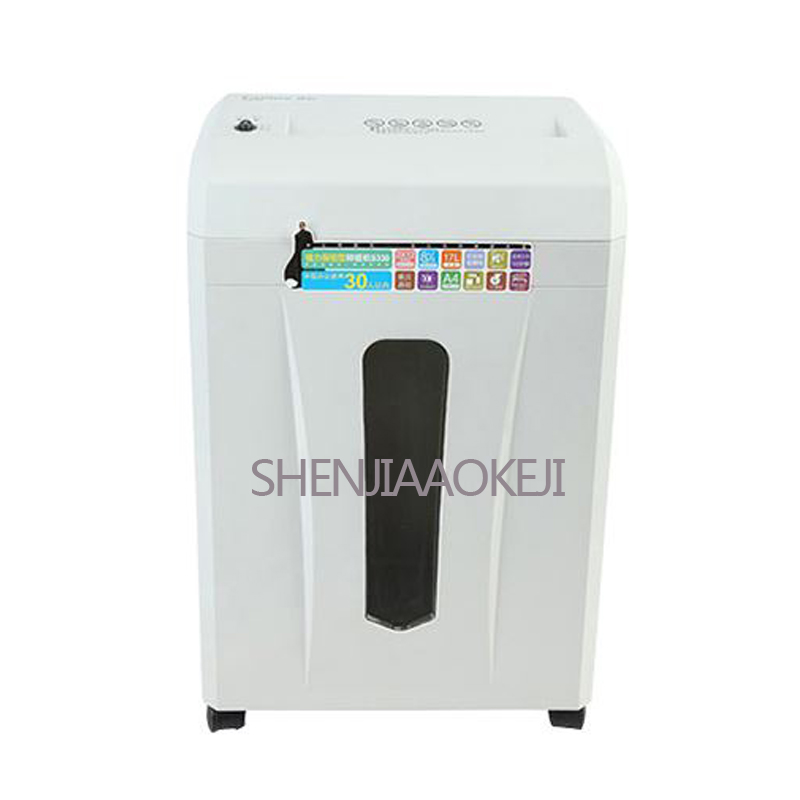 17L electric Shredder Office Mute household particle paper document grinder Large capacity paper bucket super shredding ability