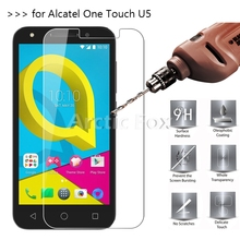 2.5D 0.26mm 9H Premium Tempered Glass For Alcatel One Touch U5 Screen Protector Toughened protective film For Alcatel U5 Glass