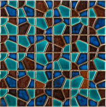 Glazed green Diamond Design Ceramic mosaic tile,Home improvement TV bathshower kitchen backdrop fireplace wall decortile,LSJJY05(China)