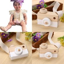Buy Cute Wooden Cameras Safe Natural Toy Camera Kids Photography Prop Baby Gift Ptetend Educational Toy for $3.91 in AliExpress store