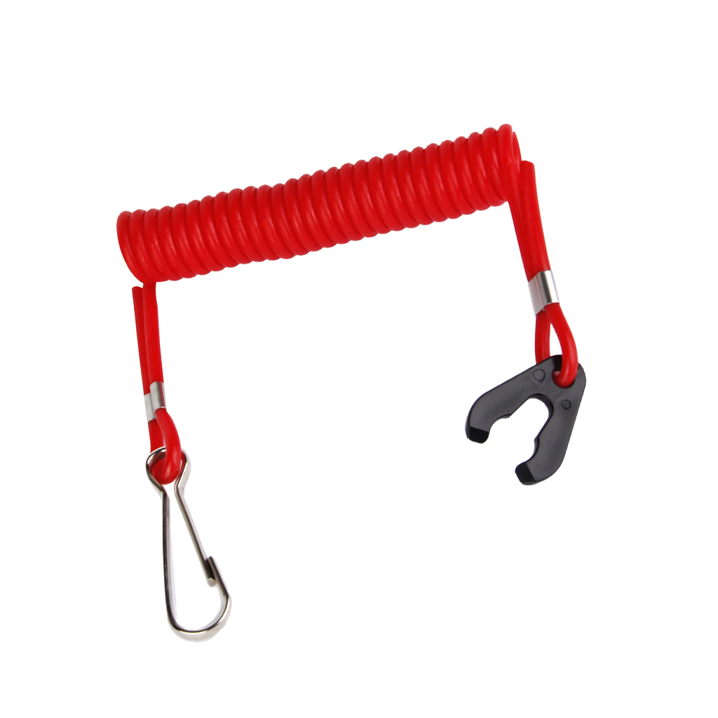 Red Plastic Safety Guard Boat Motor Outboard Kill Switch Key Layard Ignition Water Sports Boating Surfing Swimming Accessories