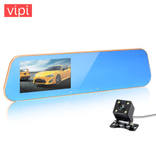 car camera rearview mirror auto dvrs cars dvr recorder video registrator full hd1080p dash cam camcorder night vision dual lens
