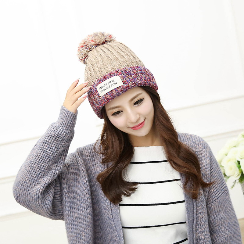 Autumn and winter knitted hat knitted hat pocket all-match plus velvet thickening thermal winter hat women warm winter berets Одежда и ак�е��уары<br><br><br>Aliexpress