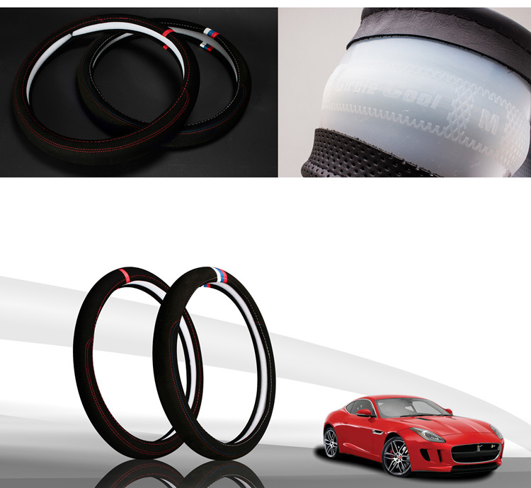 Car accessories Leather Car steering wheel cover All year can use sport Car styling Auto steering wheel Diameter  (6)