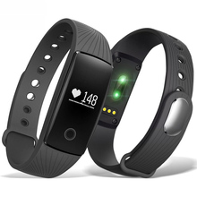 ID107 Bluetooth 4.0 Smart Watch Fitness Tracker Band with Heart Rate Monitor Remote Cam for Android iOS Smartphone Selling Gift