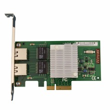PCI-E X4 RJ45 Server Dual Port Gigabit Ethernet 10/100/1000Mbps Network Interface Card For intel i350-T2 NIC(China)
