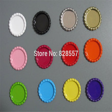 "1"" 25mm Mix Colors Tinplate Round Metal Flattened Bottle Caps For Hairbows epoxy stickers crafts making DIY accessories E271(China)"