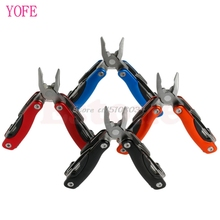 Portable 9 In 1 Stainless Steel Multi Tool Plier Outdoor Mini Pocket Camping Kit #S018Y# High Quality