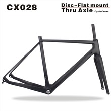 2017 MIRACLE Full Carbon Cyclocross Frame Size 49/52/54/56/58cm Thru Axle Cyclocross Bike Frame 700*40C bicicleta Carbon Frame
