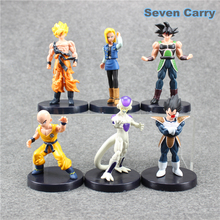 6pcs/lot Super Saiyan Goku Vegeta Gohan Piccolo Cell Buerma PVC Action Figure Dragon Ball Z Dolls