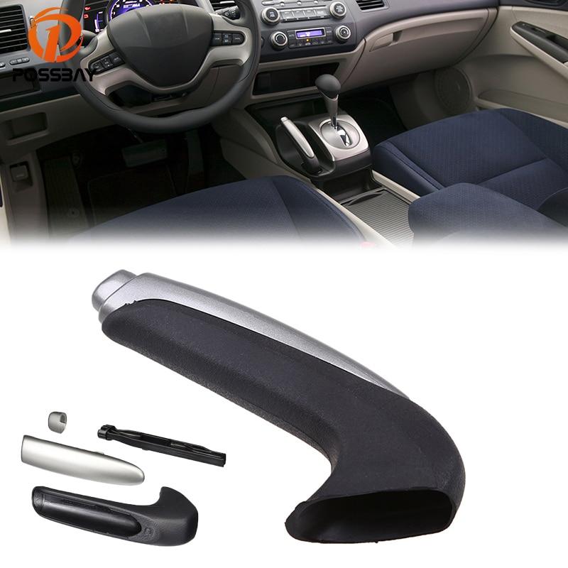 New Car Red Wooden Style Hand Brake Ebrake Handle Hand Break Protect Cover AU
