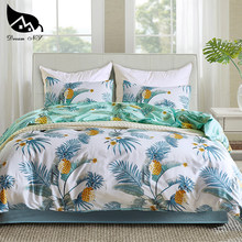 Dream NS Bedding Set 100% Polyester Fiber Home Textile Products Pineapple Tree Pattern Reactive Print Duvet Cover Sets(China)