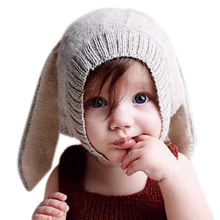 2017 New Knit Winter Cotton Baby Beanies Baby Hat Infant Toddler Cap For Boy/Girl Warm Baby Cap Children Beanies Bunny ears hats