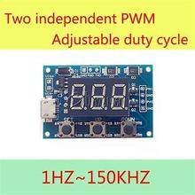2CH Independent PWM Generator Duty Cycle Pulse Frequency LED Digital Tube Module