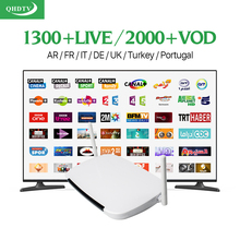 Android TV Box Q9 STB Media Player HD IPTV French Italian 1300+ Europe IPTV Arabic Subscription 1 year QHDTV Account TV Receiver