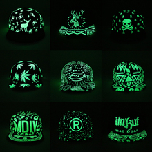 Graffiti Snapback Cap Hat Women Noctilucence Baseball Hat Light Fluorescent Baseball Cap Luminous iMucci Hip Hop Cap Hat Girl