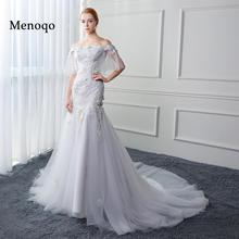 Buy Menoqo Real Photo Low Price Luxury robe de mariage shoulder Bridal Gowns Appliques Flowers Mermaid Wedding Dresses 2017 for $142.04 in AliExpress store