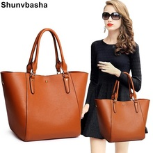 Buy Women Handbag Genuine Leather Big Tote Bag Luxury Ladies Design Shoulder Bag Real Leather Handbags 2017 New Fashion Sac Femme for $30.90 in AliExpress store