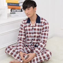 Pijama masculino autumn and winter men pajama sets cotton long sleeve pijama plus size sleepwear male pyjama home L-XXXL(China)
