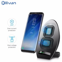 Buy Qi Fast Wireless Charger Fast Mobile Phone Charger iPhone 8 8Plus Fast Wireless Charging Samsung S8 Docking Dock Station for $23.69 in AliExpress store