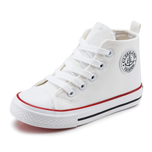 Classic Children Canvas Shoes Flats High Top Boys and Girls Sneakers Kids Casual Sport Shoes meias de bebe Breathable Shoes Boy