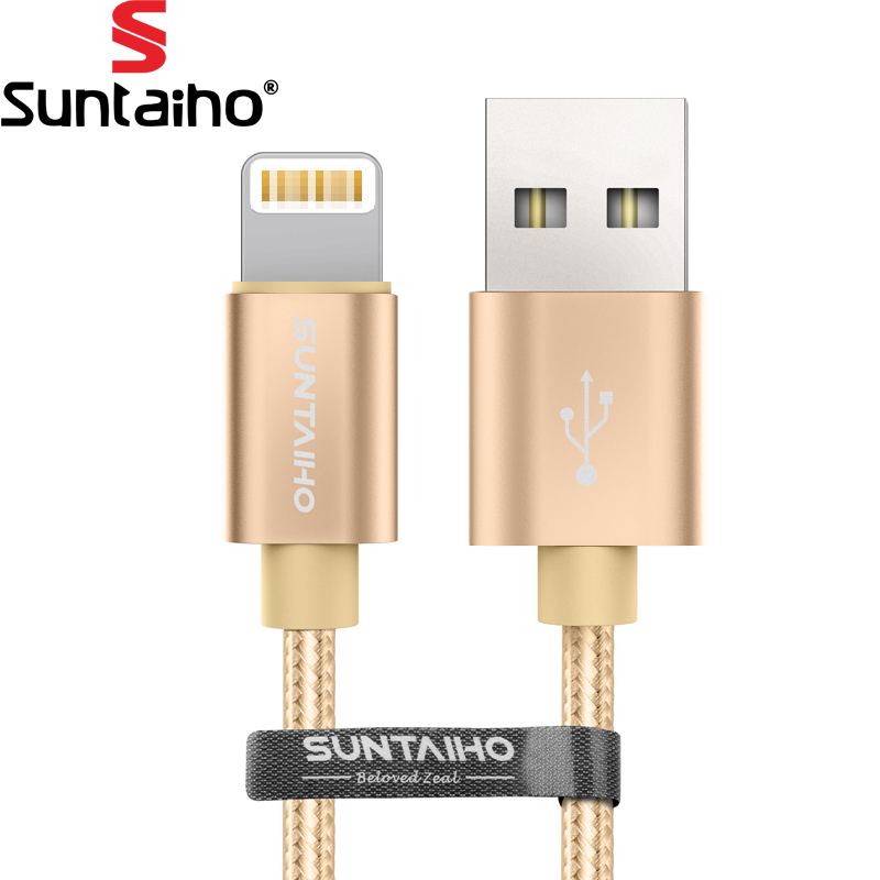 Suntaiho Fast Charging 8pin Nylon Braided USB Cable iPhone 7 plus 6s plus USB Charging Date Cable iPhone 8 plus X cable