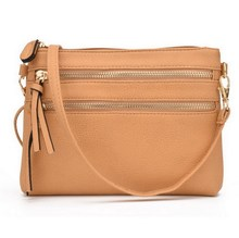 JIARUO Fashion Multi Zipper Pocket Women Small Mini Shoulder messenger Crossbody Bag Ladies Satchel Handbag Cellphone Pouch()