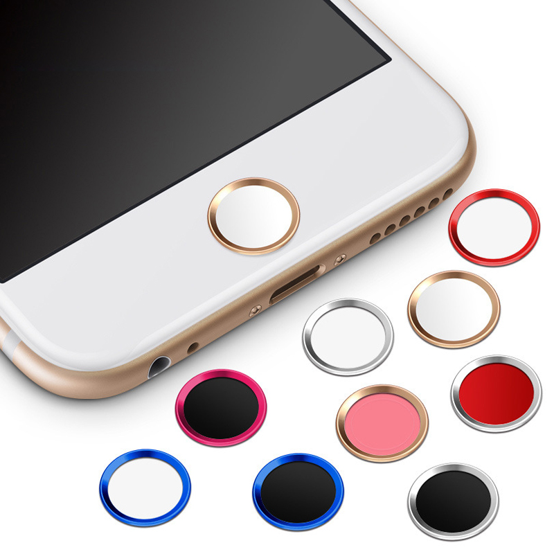 2pcs/lot For iPhone Home Button Sticker For iPhone 5s 6 6s Plus 6Plus 6s Plus Fingerprint Identification Unlock Key Stickers(China)