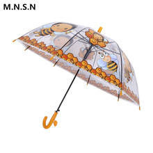 Kids Umbrella Children Cartoon Parasol Animal Long handle Lovely Frogs Bees Windproof Rainproof Paraguas Boys Girls Gift XL0100(China)