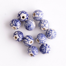 Chinese Style 30pcs/lot Blue and White Porcelain Ceramic Beads 8mm for Carft CN-CH876