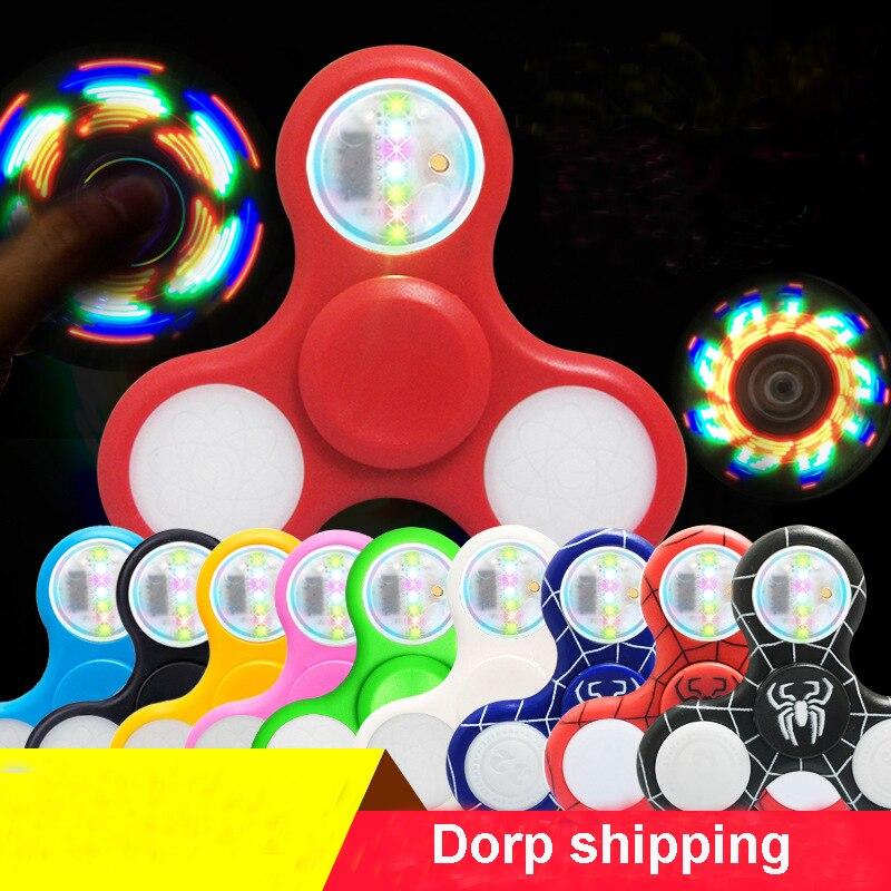 Light Fidget Spinner Led Stress Hand Spinners