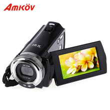 Amkov AMK-DV163 HD Camera 720P Digital Camera 2.7'' 16MP DV Video Camera Professional Cameras Support LED Fill Light with Cable(China)