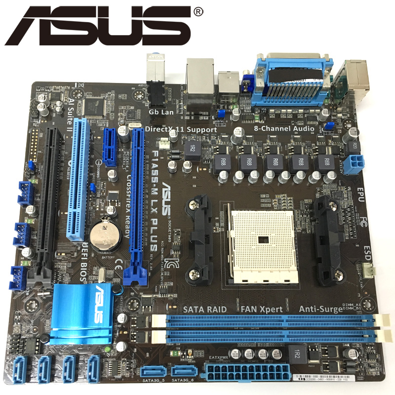 Asus Original F1A55-M LX PLUS Desktop Motherboard A55 Socket FM1 DDR3 32G For A / E2 Original Used Mainboard On Sale