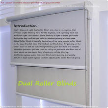 Window light filtering and blackout fabrics day and night dual roller blind  customized  (size 100cm X100cm)
