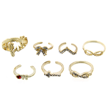 Dropshipping fashion finger ring Seven pieces ring set anchor piece set ring pinky ring CTCORJZ0008