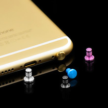 Mini Aluminum Alloy PU Dust Plug Set Earphone 3.5mm Jack Plug Anti Dust Plug Phone Accessories for iPhone 5 5S 6 plus Samsung(China)