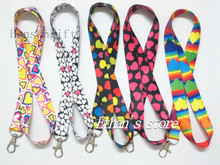Girls Hearts Neck Lanyard Badge for Keys Phone Straps Lots Mix Color(China)
