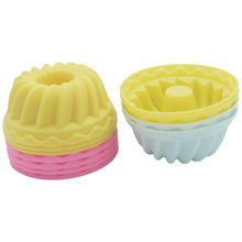10 Pieces Silicone Savarin Mold Cupcake Baking Mould Bundt Cake Cup(China)
